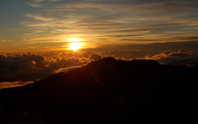 Sunrise over Haleakala, Maui. July 2014